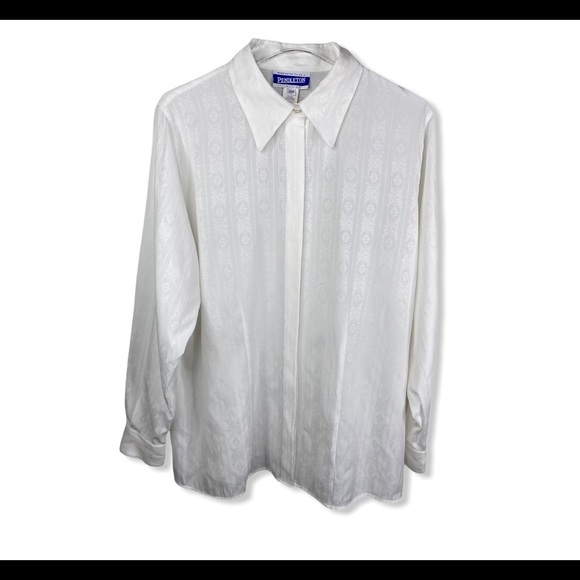 Pendleton Plus Button Up Blouse Top Long Sleeve
